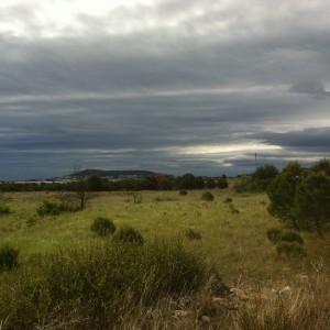 vue de la villa loupian