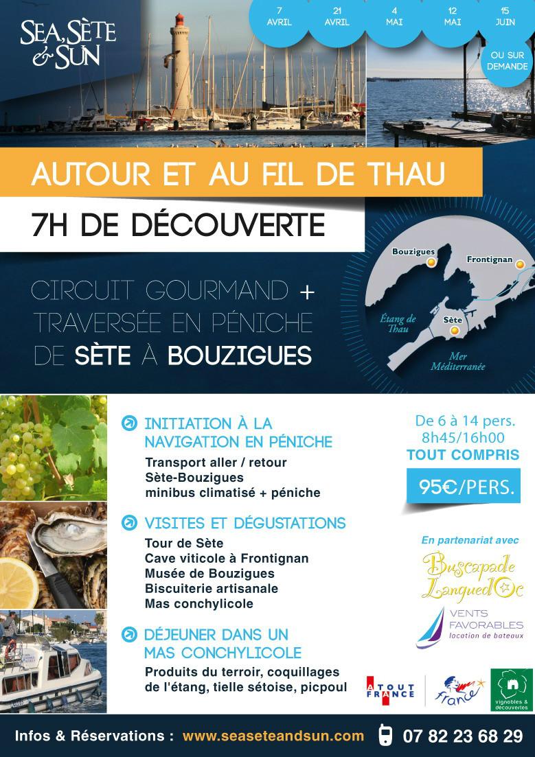 Affiche de la visite de l'étang de Thau - Autour et au fil de Thau - Sea, Sète & Sun